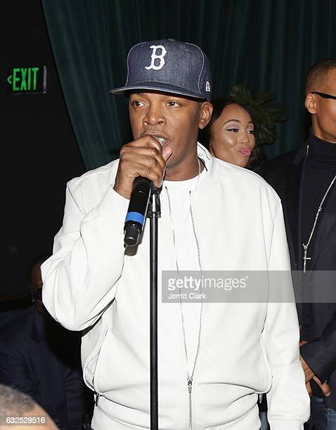 Brooke Payne speaks as New Edition Celebrates Their Star On The Hollywood Walk Of Fame at Warwick on January 23 2017 in Hollywood California