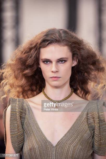 Brooke Robinson walks the runway during the Chloe Womenswear Spring/Summer 2020 show as part of Paris Fashion Week on September 26, 2019 in Paris,...