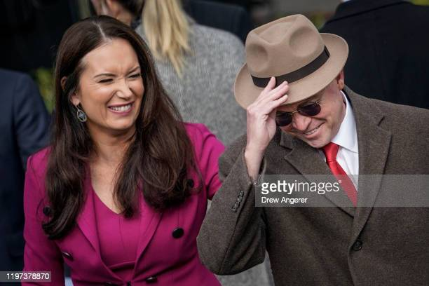 Brooke Rollins Assistant to President Donald Trump in the Office of American Innovation and Acting White House Chief of Staff Mick Mulvaney arrive...