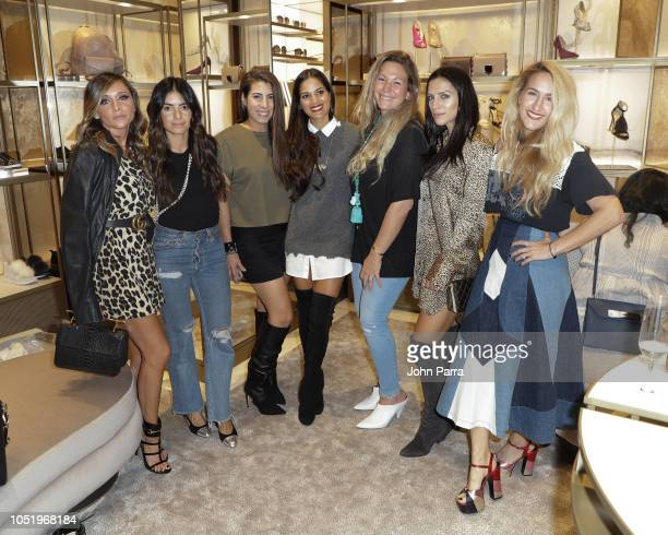 Brooke Rosenfold Gigi Vogel Kirsten Vogel Asha Elias Adina Sprung and Sally Schimko are seen at InStyle x Jimmy Choo Boutique At Aventura Mall on...