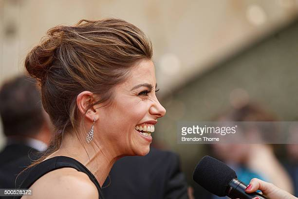 Brooke Satchwell arrives ahead of the 5th AACTA Awards Presented by Presto at The Star on December 9 2015 in Sydney Australia