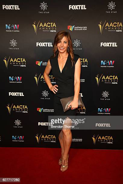 Brooke Satchwell arrives ahead of the 6th AACTA Awards Presented by Foxtel | Industry Dinner Presented by Blue Post at The Star on December 5 2016 in...