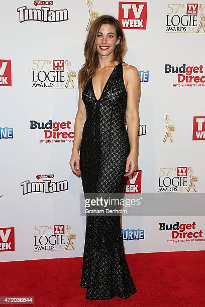 Brooke Satchwell arrives at the 57th Annual Logie Awards at Crown Palladium on May 3 2015 in Melbourne Australia