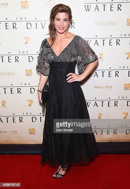 Brooke Satchwell arrives at the World Premier of 'The Water Diviner' at State Theatre on December 2 2014 in Sydney Australia