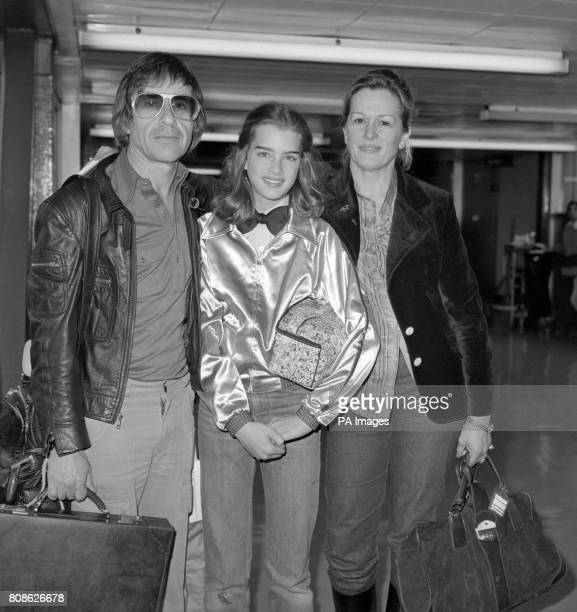 Brooke Shields 13 year old star of the controversial film Pretty Baby on arrival at Heathrow Airport from Nice and the Cannes Film Festival