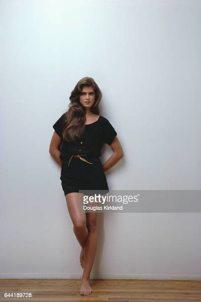 Brooke Shields Against a Wall