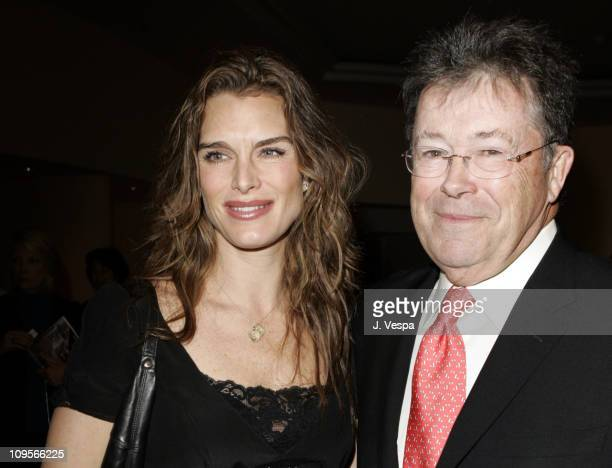 Brooke Shields and Bob Dowling editorinchief of the Hollywood Reporter