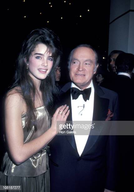 Brooke Shields and Bob Hope during Bob Hope's 30th Anniversary Party at NBC's Burbank Studio in Burbank California United States