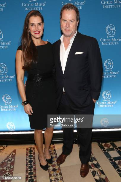 Brooke Shields and Chris Henchy attend Child Mind Institute 2019 Child Advocacy Award Dinner at Cipriani 42nd Street on November 19 2019 in New York...