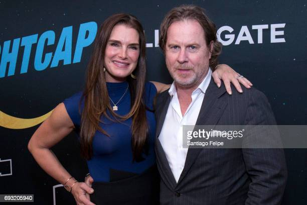 Brooke Shields and Chris Henchy attend 'Nightcap' Season 2 New York Premiere Party at Crosby Street Hotel on June 6 2017 in New York City