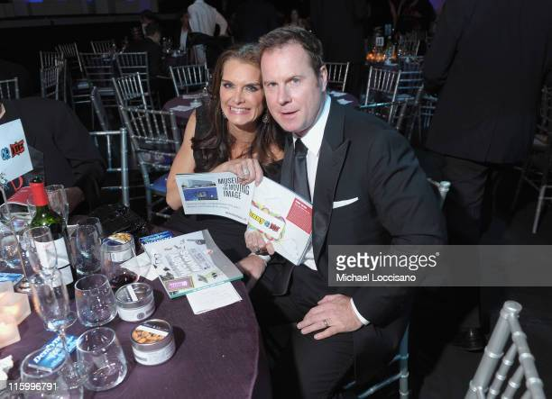 Brooke Shields and Chris Henchy attend the 15th Annual Webby Awards at Hammerstein Ballroom on June 13, 2011 in New York City.