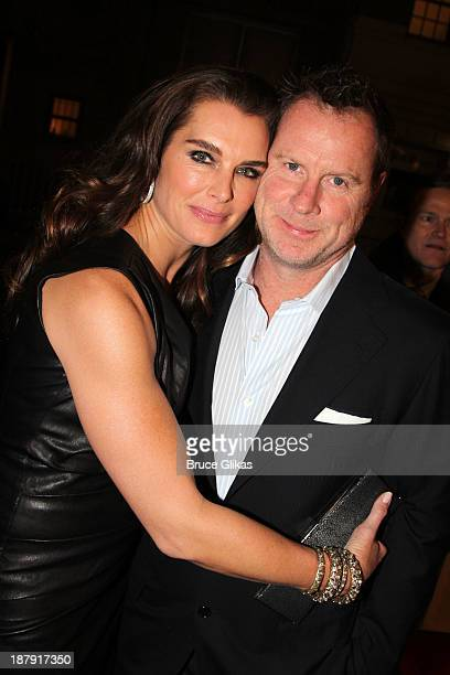 Brooke Shields and Chris Henchy attend the 700 Sundays welcome back to Broadway at the Imperial Theatre on November 13 2013 in New York City