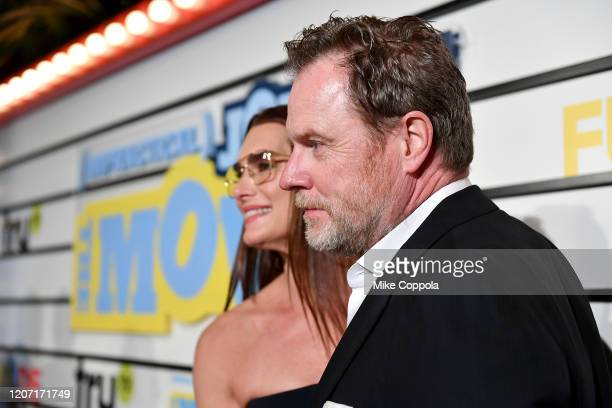 Brooke Shields and Chris Henchy attend the Impractical Jokers The Movie Premiere Screening and Party on February 18 2020 in New York City 739100