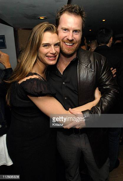 Brooke Shields and Chris Henchy during 2003 UTA UpFront Party at LIGHT in New York City New York United States