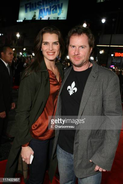 """Brooke Shields and Chris Henchy during 20th Century Fox's World Premiere of Moviefilm """"Borat: Cultural Learnings of America for Make Benefit Glorious..."""