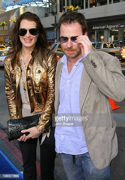 Brooke Shields and Chris Henchy during Blades of Glory Los Angeles Premiere Red Carpet at Mann's Chinese Theater in Hollywood California United States