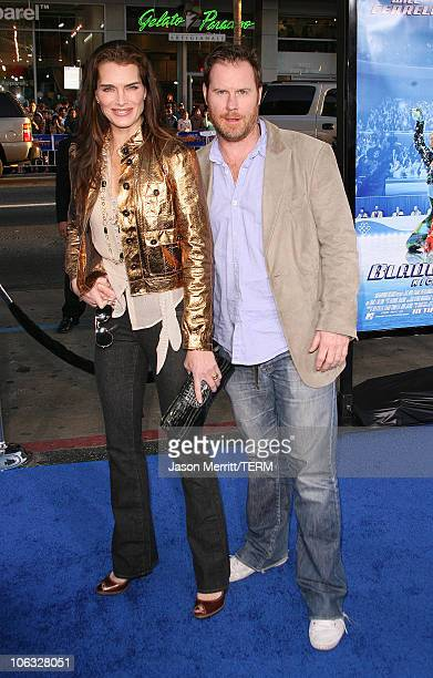 """Brooke Shields and Chris Henchy during """"Blades Of Glory"""" Los Angeles Premiere - Arrivals at Grauman's Chinese Theatre in Hollywood, California,..."""
