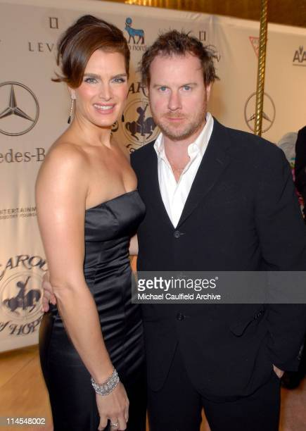 Brooke Shields and Chris Henchy during MercedesBenz Presents the 17th Carousel of Hope Ball Red Carpet at Beverly Hills Hilton in Beverly Hills...