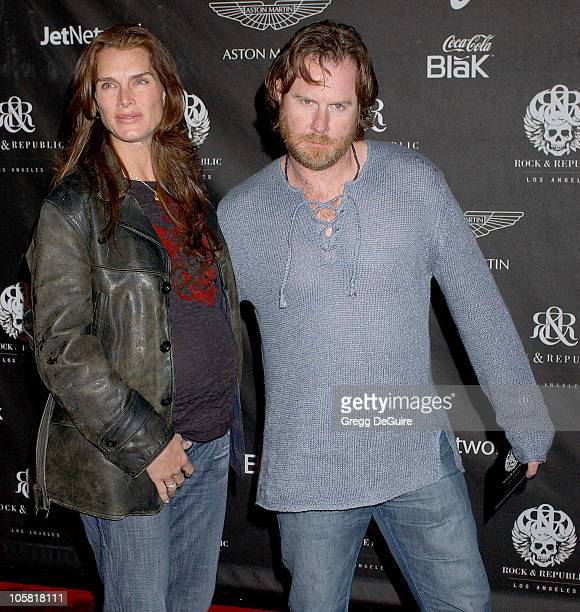 Brooke Shields and Chris Henchy during Rock Republic's Fall 2006 Exhibition of Fashion Begins the New Era Arrivals at Sony Studios in Culver City...