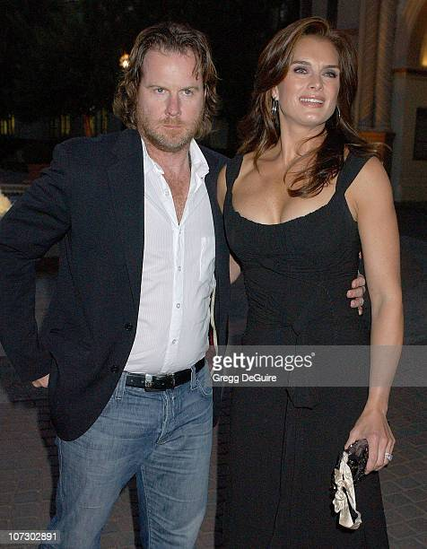 Brooke Shields and Chris Henchy during Season Four Premiere Screening Of Nip/Tuck Arrivals at Paramount Studios in Hollywood California United States