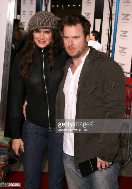 Brooke Shields and Chris Henchy during Stranger than Fiction Los Angeles Premiere Arrivals at Mann Village Theatre in Westwood California United...