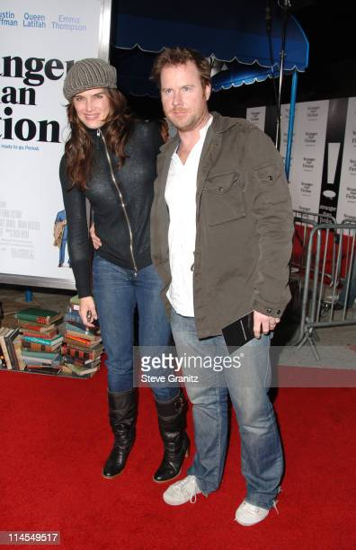 Brooke Shields and Chris Henchy during Stranger Than Fiction Premiere Arrivals at Mann Village Theatre in Westwood California United States
