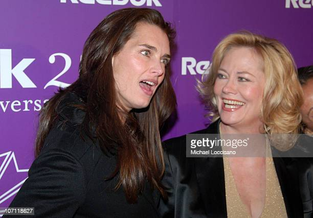 Brooke Shields and Cybill Shepherd during Reebok's 25th Anniversary Celebration of Their Top Women's Sneaker Collection The Freestyle at Culture Club...