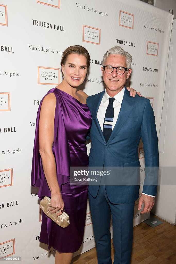 Brooke Shields and David Kratz arrive at the 2015 Tribeca Ball at New York Academy of Art on April 13, 2015 in New York City.