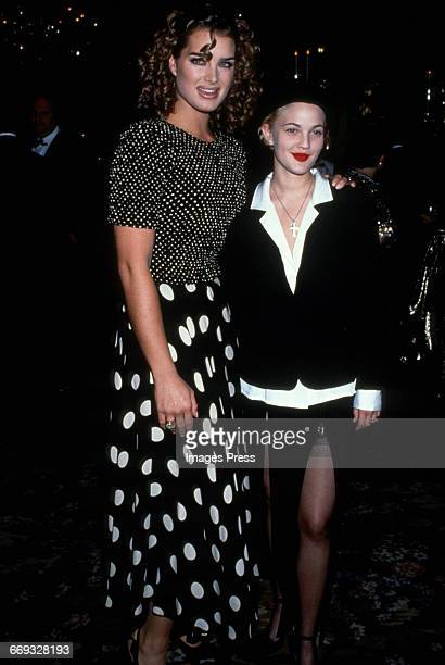 Brooke Shields and Drew Barrymore attend the 8th Annual Rita Hayworth Gala to benefit the Alzheimer's Foundation held at Tavern on the Green circa...