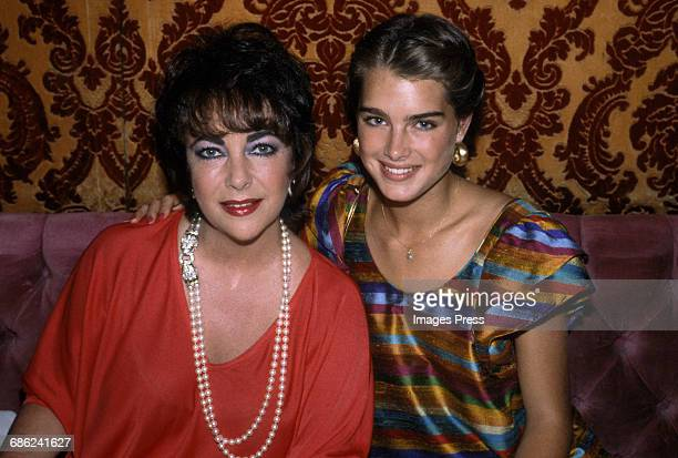 Brooke Shields and Elizabeth Taylor circa 1981 in New York City