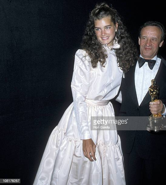 Brooke Shields and Franco Zefferelli during 53rd Annual Academy Awards at Dorothy Chandler Pavillion in Los Angeles California United States