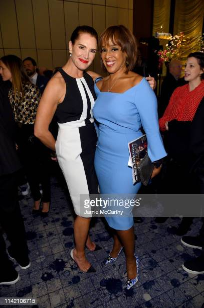 Brooke Shields and Gayle King attend The Hollywood Reporter's 9th Annual Most Powerful People In Mediaat The Pool on April 11 2019 in New York City