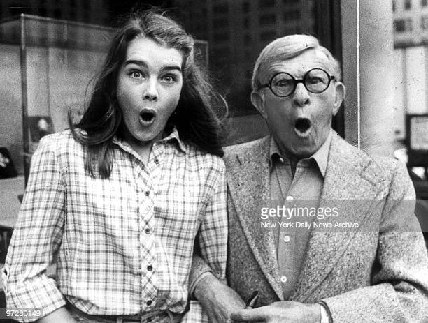 Brooke Shields and George Burns stroll arminarm along Fifth Ave They're in town to promote their movie 'Just You and Me Kid'