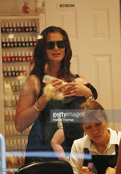 Brooke Shields and Grier Hammond Henchy during Brooke Shields and Family Sighting in SOHO July 31 2006 at SOHO in New York City New York United States