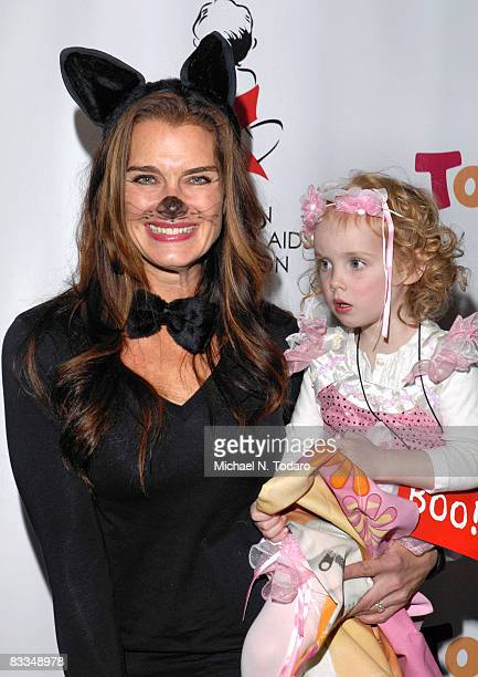 Brooke Shields and Grier Shields attend the Dream Halloween fundraiser for Children Affected By AIDS at Roseland Ballroom on October 19 2008 in New...