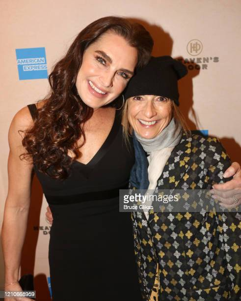 Brooke Shields and guest pose at the opening night of the new Bob Dylan Musical Girl From The North Country on Broadway at The Belasco Theatre on...