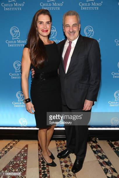 Brooke Shields and Harold Koplewicz attend Child Mind Institute 2019 Child Advocacy Award Dinner at Cipriani 42nd Street on November 19 2019 in New...