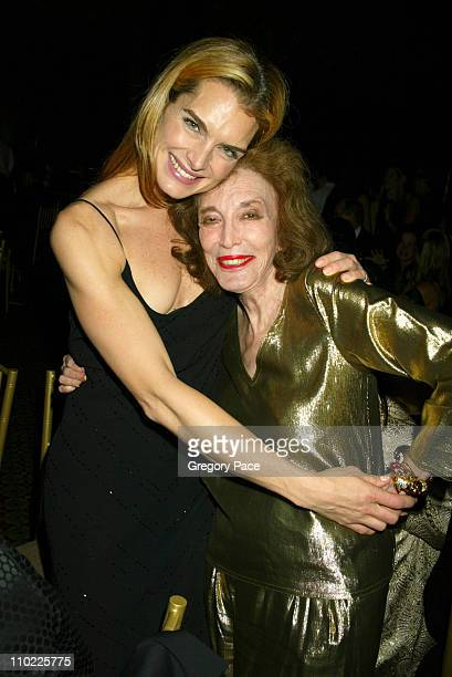 Brooke Shields and Helen Gurley Brown during The Accessories Council Presents the 8th Annual Ace Awards at Cipriani 42nd Street in New York City, New...
