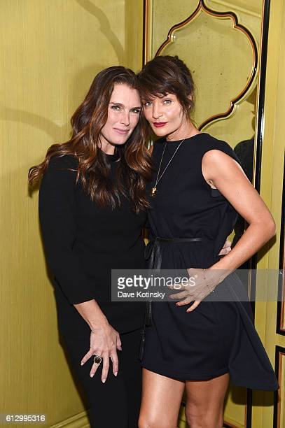 Brooke Shields and Helena Christensen, Creative Director of strangelove nyc, attend the VIP Luncheon launching the Niche Fragrance Line - strangelove...