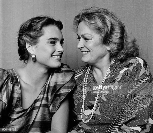 Brooke Shields and her mother and manager Teri Shields photographed in 1981 in New York City