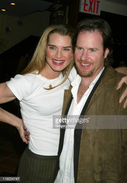 Brooke Shields and husband Chris Henchy during Brooke Shields Hosts A Farewell Party for the Cast and Crew of Wonderful Town on Broadway at Tony's Di...