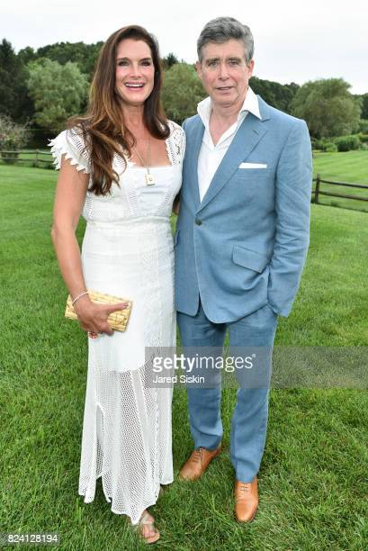 Brooke Shields and Jay McInerney attend the Alzheimer's Association Hosts Rita Hayworth Gala Hamptons Kickoff Event at a Private Residence on July 28...
