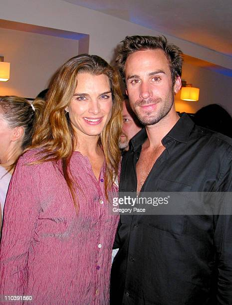 Brooke Shields and Joseph Fiennes during The 24 Hour Plays Performance Benefit Gala for the Old Vic Theatre After Party at Old Vic in London Great...