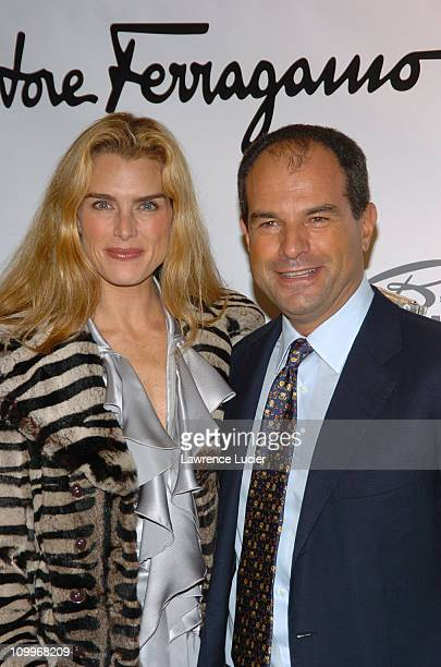 Brooke Shields and Massimo Ferragamo during Welcome Back To Broadway Party For Brooke Shields Hosted By Massimo Ferragamo in New York City, New York,...