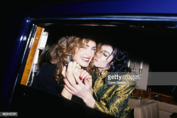 Brooke Shields and Michael Jackson attend the 35th Annual GRAMMY Awards after party at Jimmy's Restaurant on February 24 1993 in Beverly Hills...