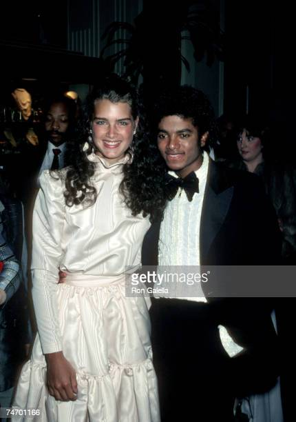Brooke Shields and Michael Jackson in Hollywood, California