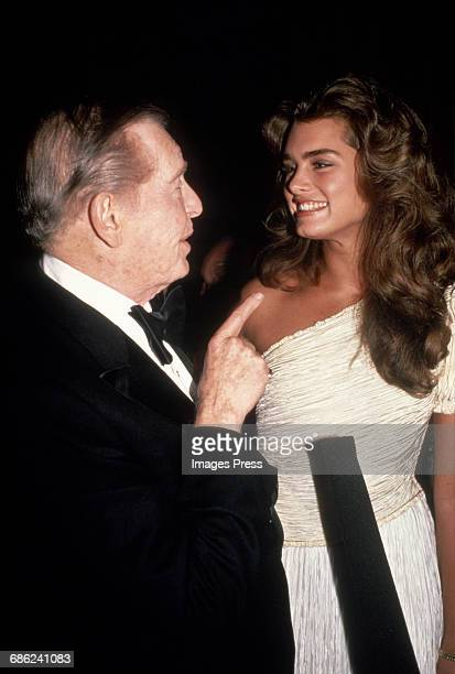Brooke Shields and Milton Berle circa 1984 in New York City