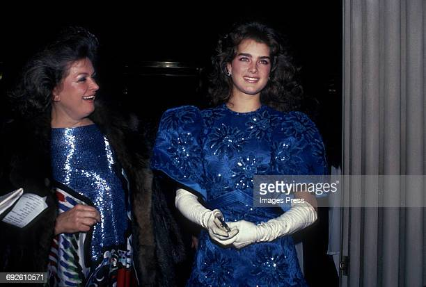 Brooke Shields and mother Teri Shields circa 1983 in New York City