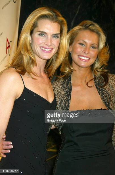 Brooke Shields and Niki Taylor during The Accessories Council Presents the 8th Annual Ace Awards at Cipriani 42nd Street in New York City New York...