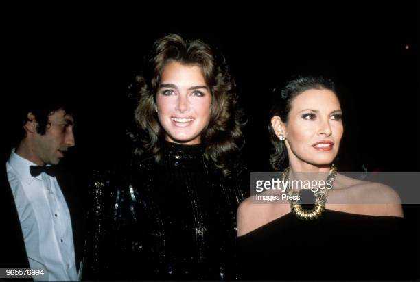 Brooke Shields and Raquel Welch circa 1982 in New York City